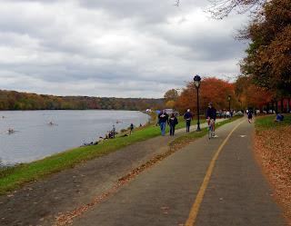 Walking along the Schuylkill River in Philadelphia