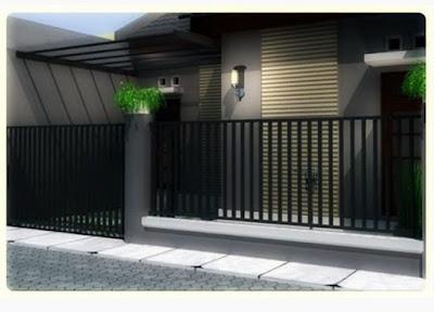 desain pagar rumah minimalis type 45