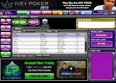 Ivey Poker Room on Facebook