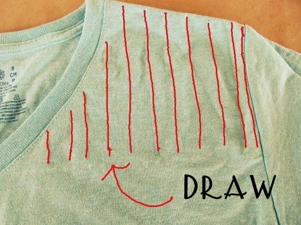 No Sew, Lattice, Stud T-shirt DIY.