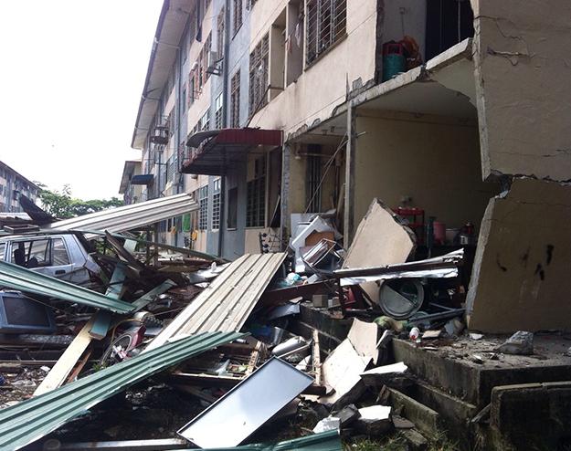 Letupan Di Sibu Sarawak 11 April 2015