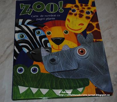 Zoo - carte de numarat cu pagini pliante