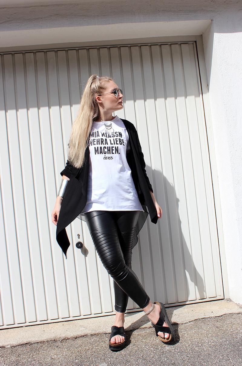 Mode München Blogger Print Shirt IVXO