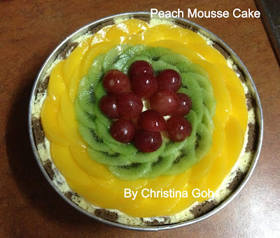 Christina's Lifestyle : 水蜜桃慕斯蛋糕( Peach Mousse Cake)