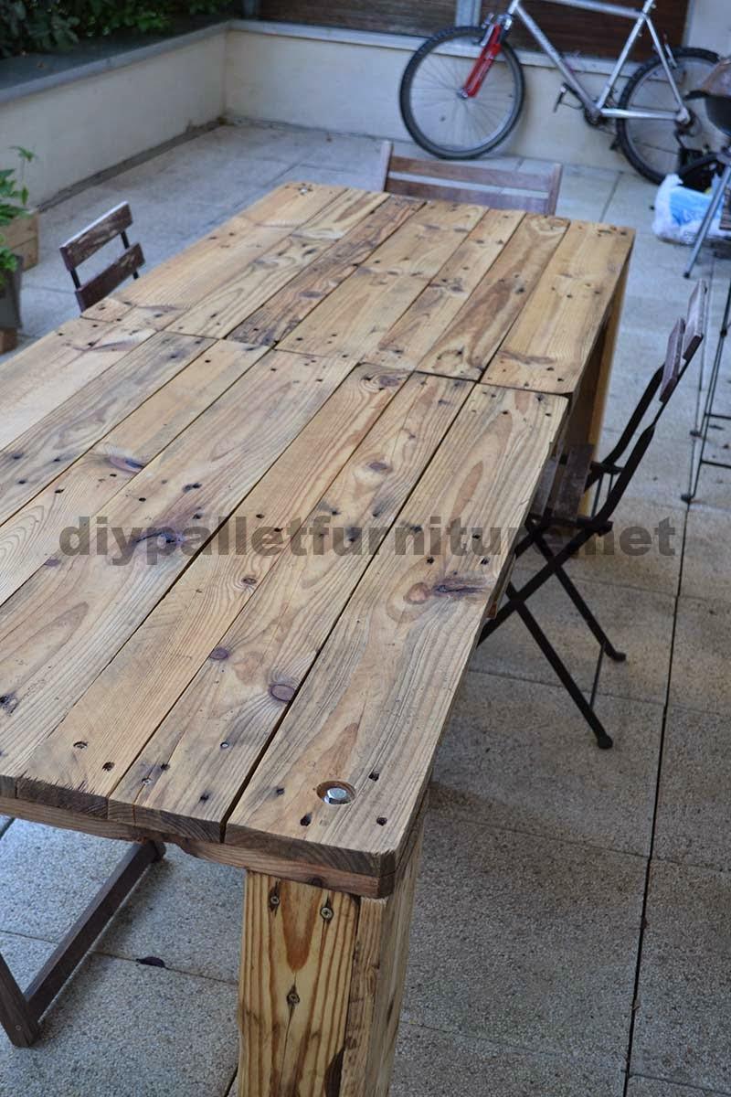 Como hacer f cilmente una mesa con un - Hacer mesa palets ...
