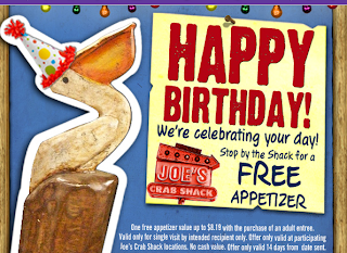 joes crab shack birthday freebie coupon