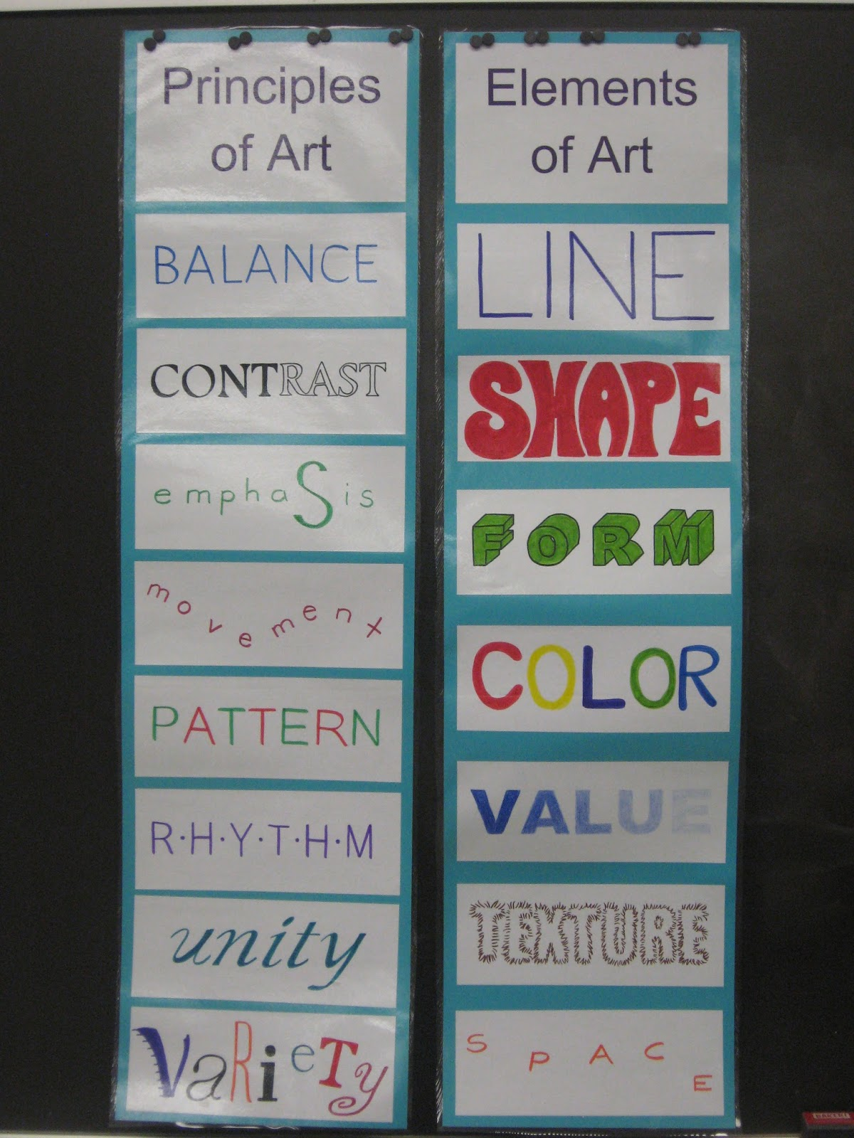 Six Principles Of Art : Miss young s art room elements and principles of