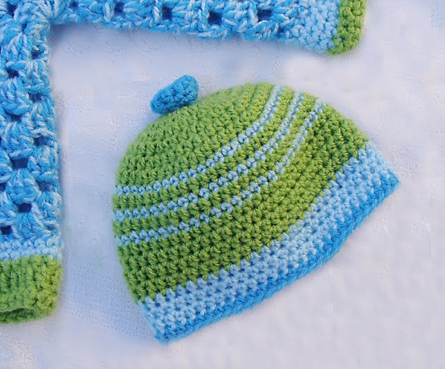 Crochet Baby Hat And Sweater Pattern : crochet baby hat-Knitting Gallery