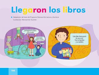 Llegaron los libros español lectura primer grado pagina 156