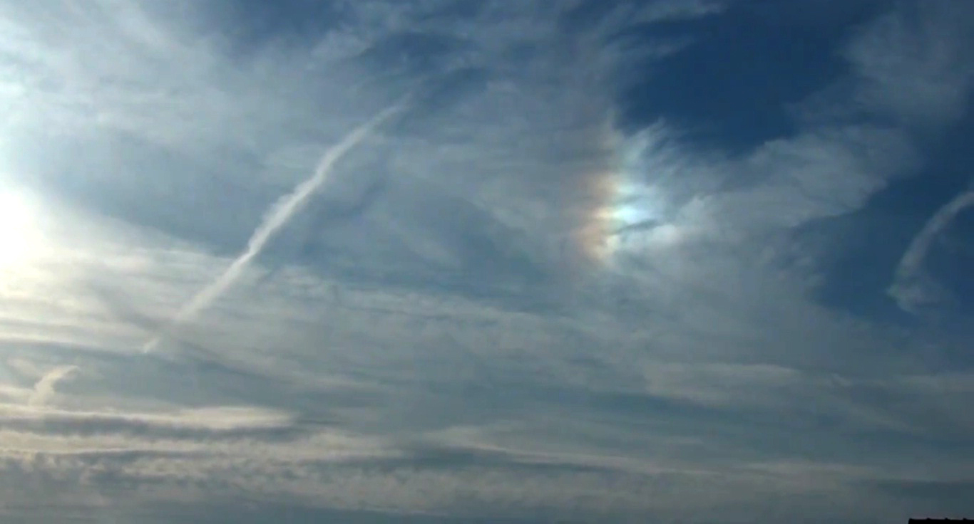 Atmospheric phenomena, optical phenomenon, parhelion, sun dogs