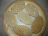 Бризоли в вафельках: Фарш выложить между вафельками