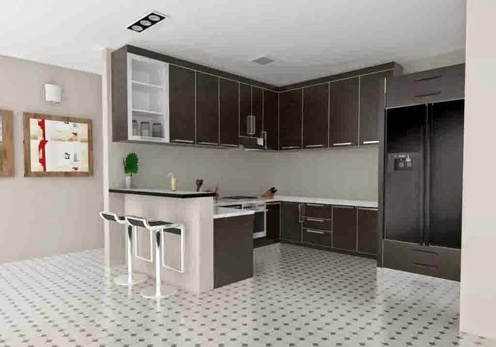 Kitchen set Murah minimalis KS-L06