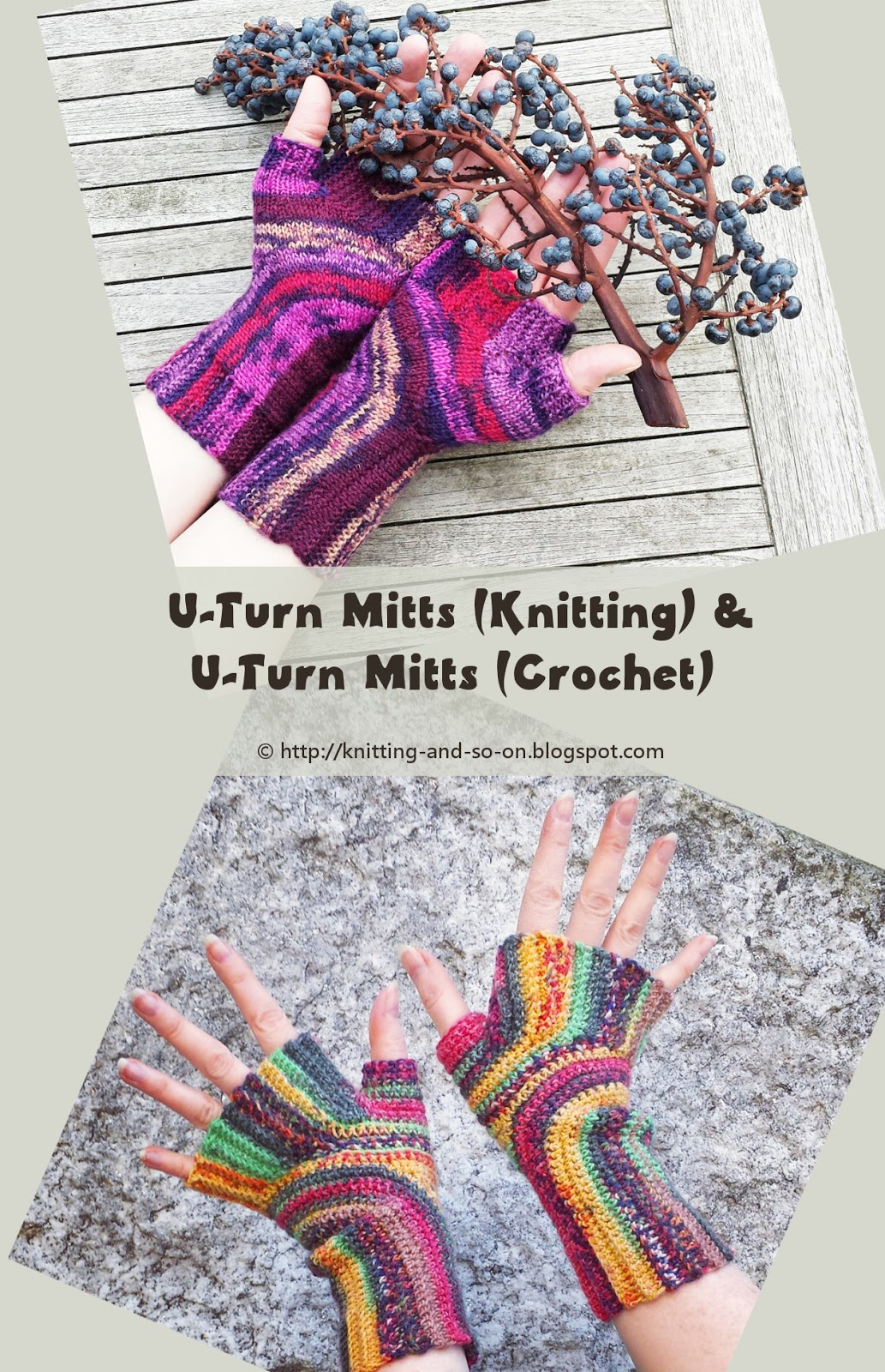 Knitting and so on: Patterns with a Knitting and Crochet Version