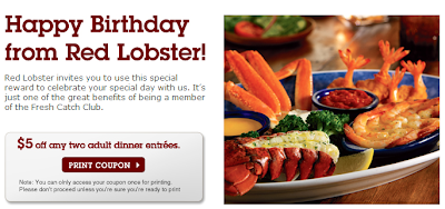 red lobster birthday freebie coupon