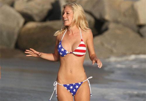 heidi montag american flag bikini