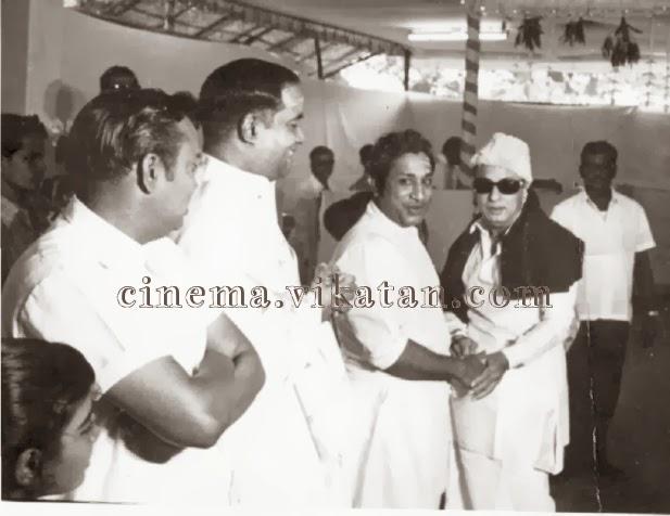 'Vathiyar' MGR & 'Nadigar Thilagam' Sivaji Ganesan in a Film Function