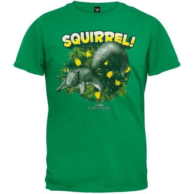 National Lampoon Attacking Christmas Squirrel Shirt