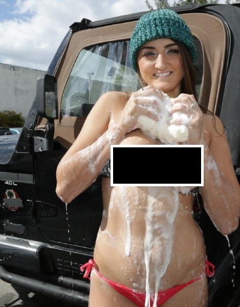 Tiffany Wells - Big Tit Carwash Hell Yeah (Big Tits Round Asses)