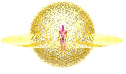 Arany Élet virága gömb védelem