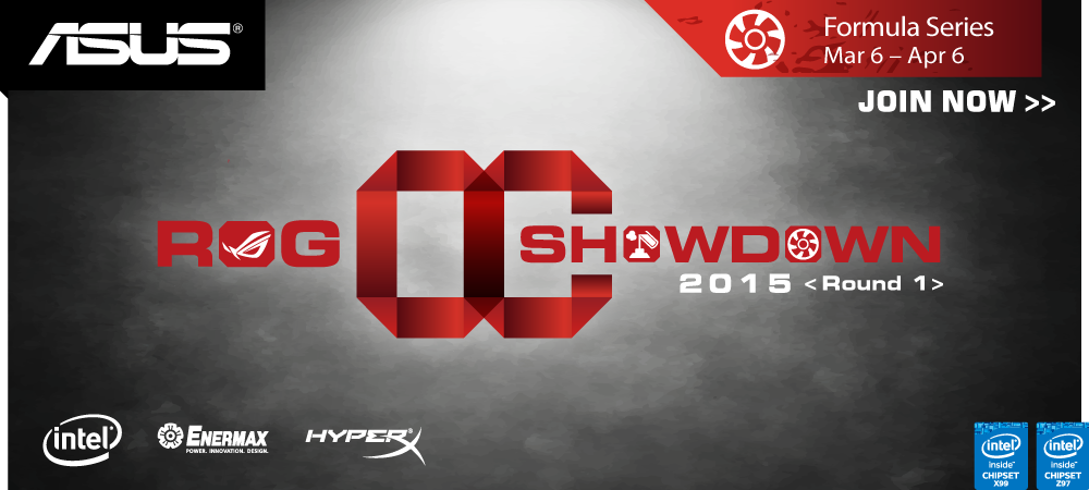 ASUS ROG OC Showdown 2015 Formula series