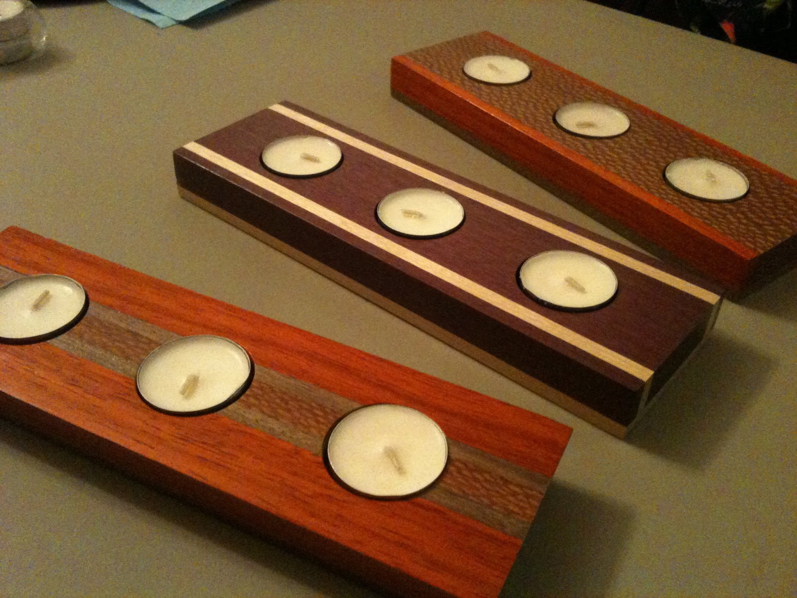 Exotic Wood Tealight Candle Holders Craig Schriver