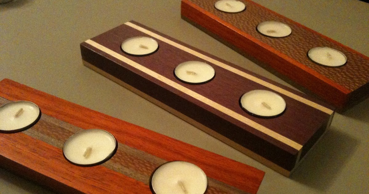 Craig Schriver Woodworking: Exotic Wood Tealight Candle ...