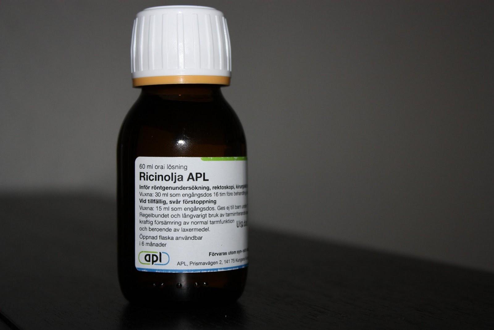 ricinolja laxermedel dosering