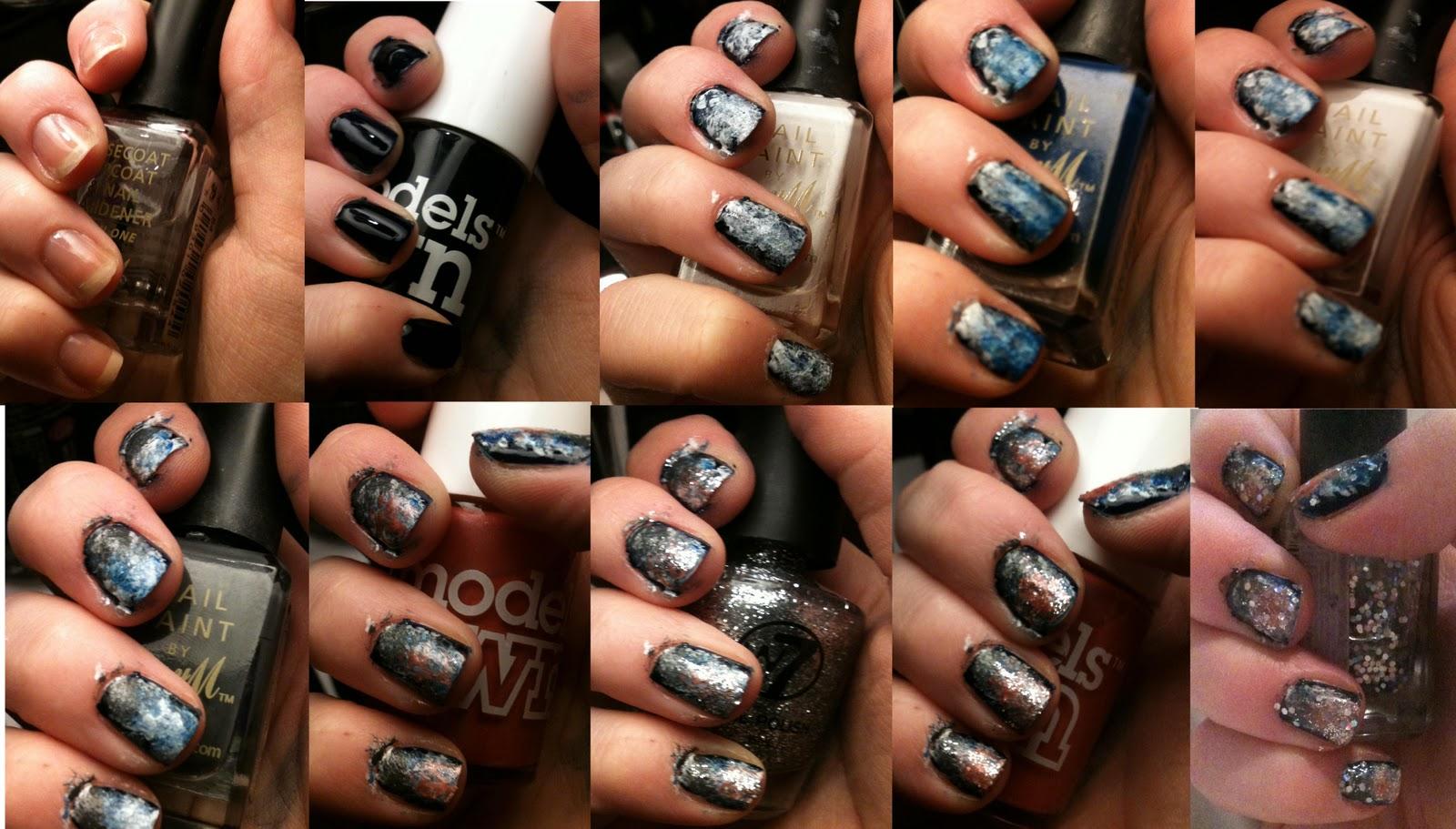 Galaxy Nails Step By Step Galaxy nails step by step
