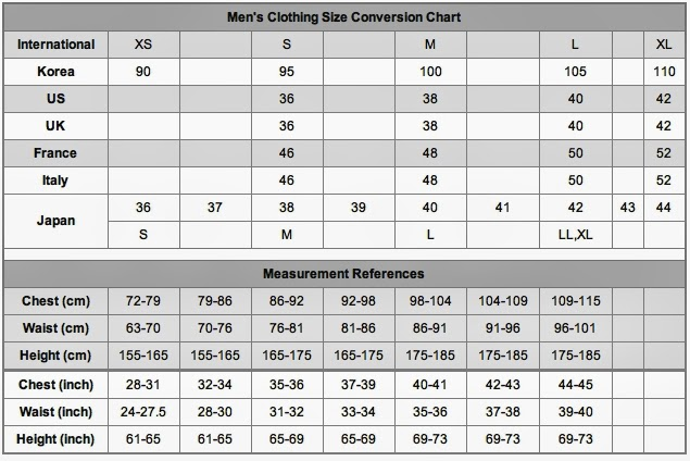 Clothes size in United States
