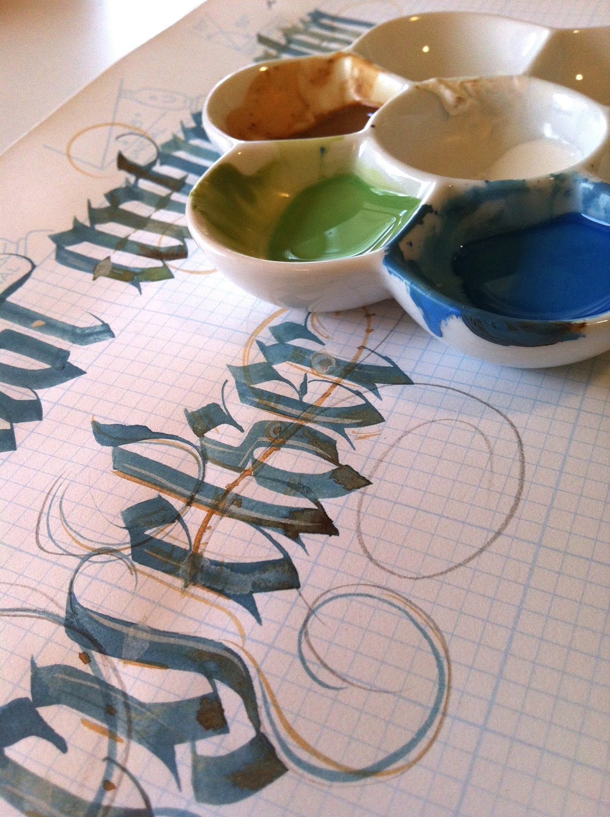Anne elser painted frakteur Anne elser calligraphy