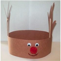 Mommyville christmas craft reindeer headband for Reindeer antlers headband craft