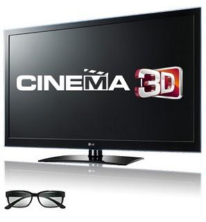 lg 3 TV 3D na sua Sala!