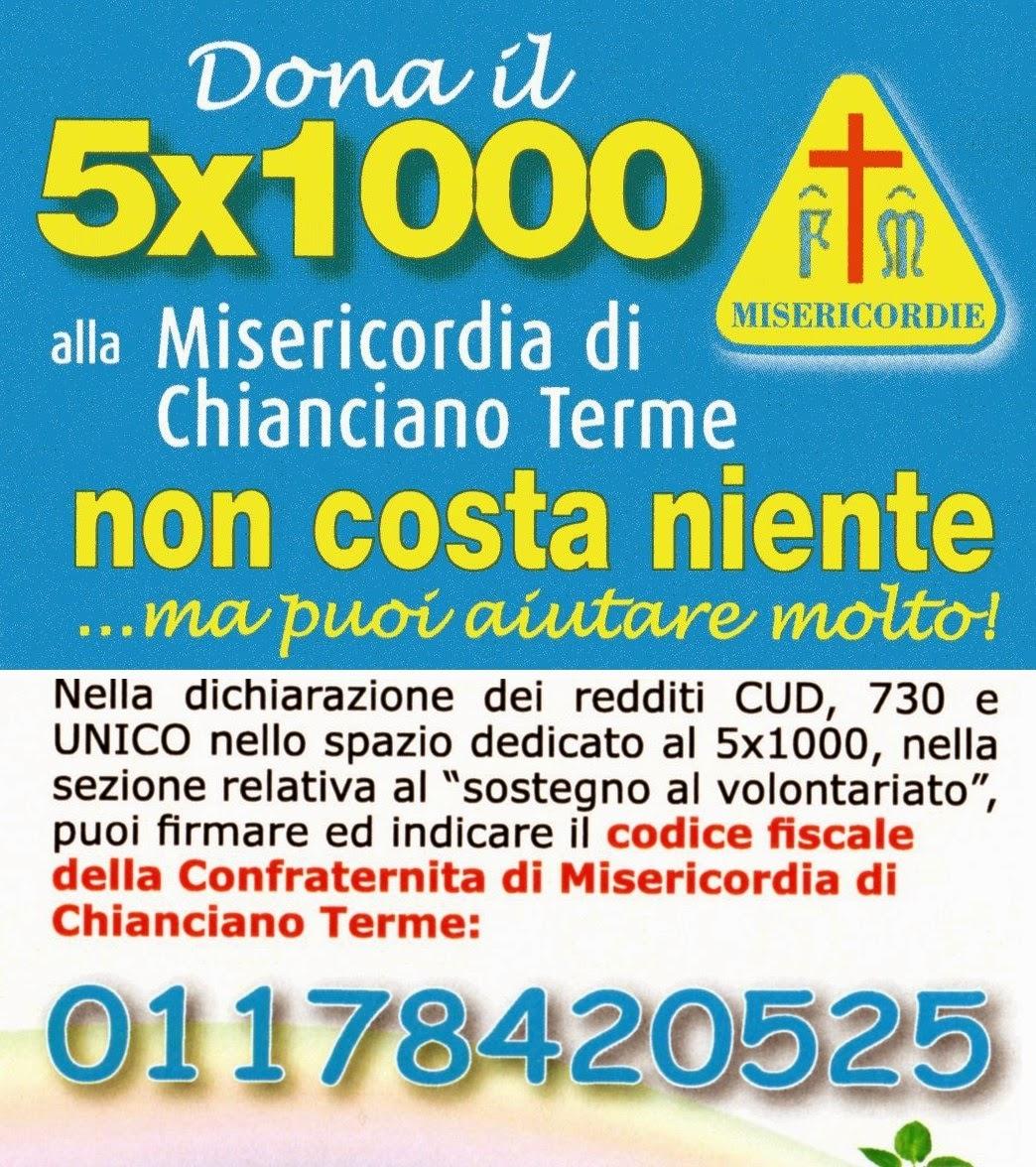 Dona il 5X1000 alla Misericordia di Chianciano Terme