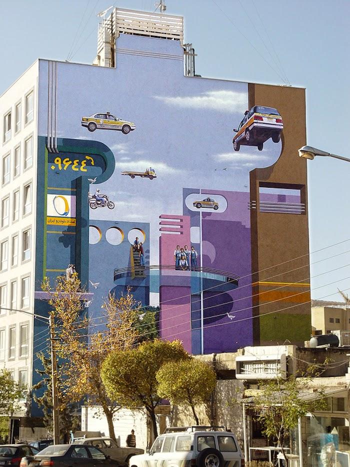 Murales en los edificios de Teheran 24