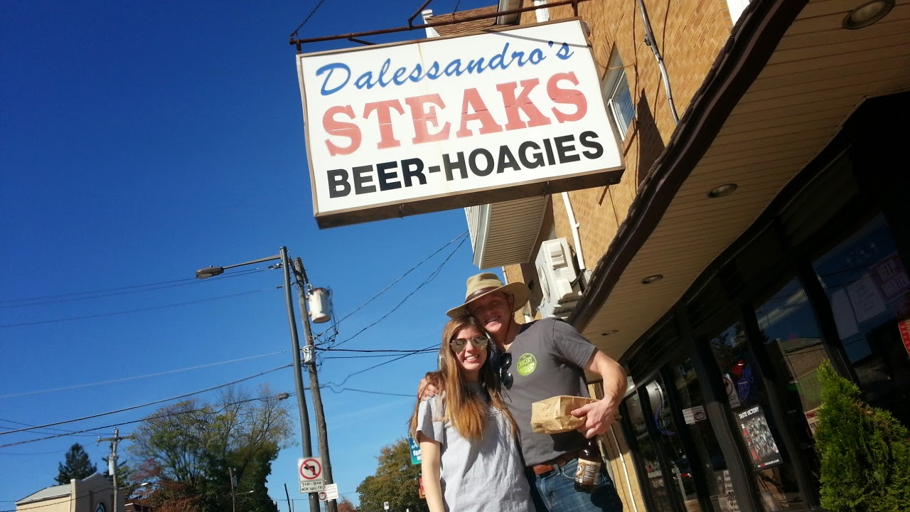 The Padgetts at Dalessandos for a Cheesesteak