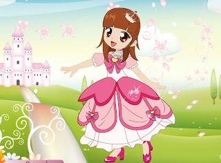 Juego de vestir a la princesa de las flores Sakura