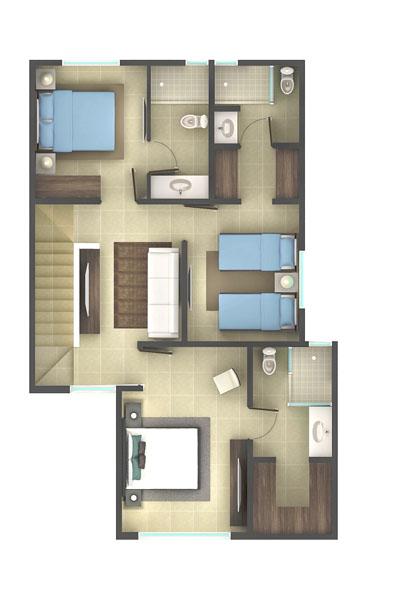 Casas en venta y departamentos for Plantas arquitectonicas de casas