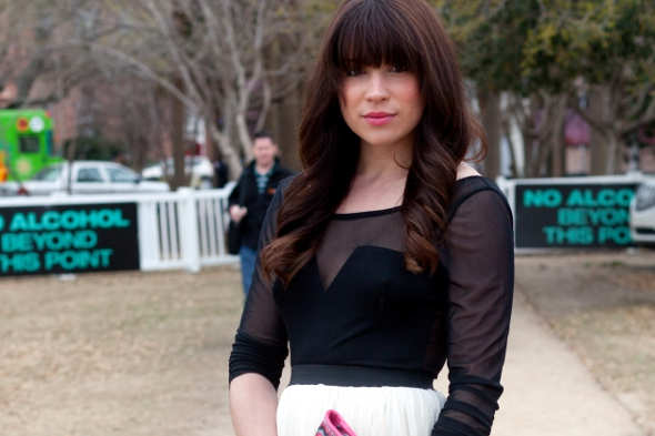Natasha duff cole, lineage bridal charlotte, bangs, hair brunettes, charleston fashion week