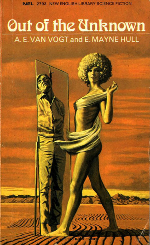 awesome classic sci-fi book cover A.E. Van Vogt Out of the unknown