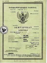 sertifikat tanah wakaf