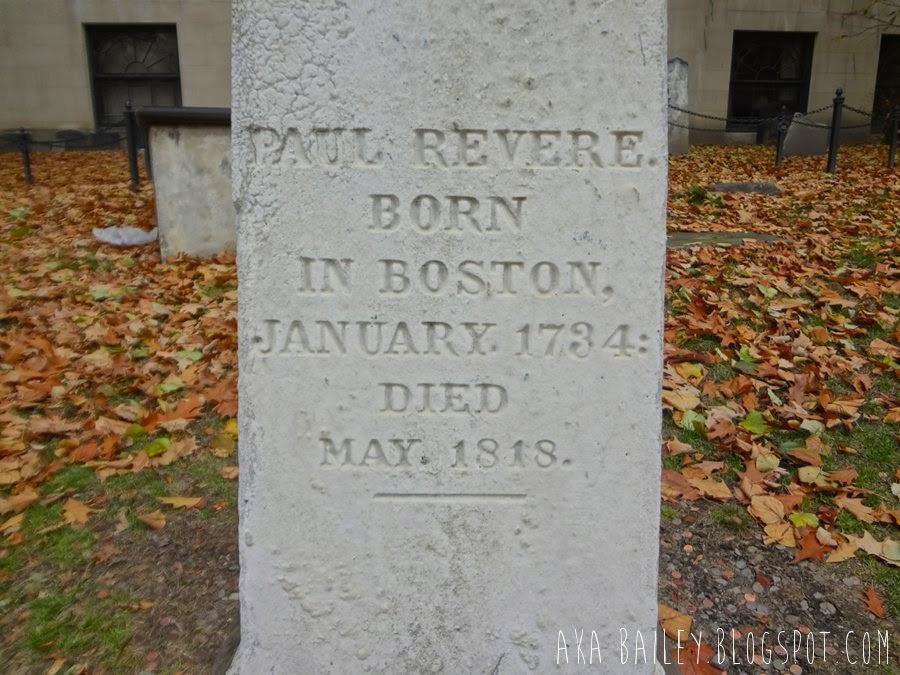Paul Revere's gravestone marker