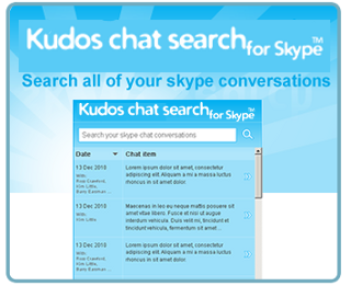 Kudos Chat Search for Skype