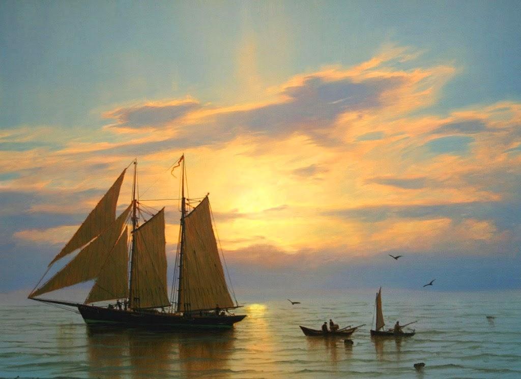 oleos-de-marinas-con-barcas