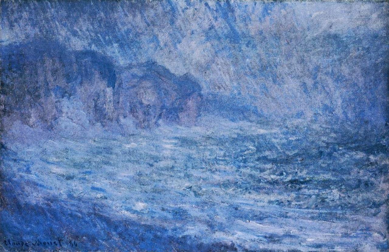 Falaises a Pourville, pluie (1886)