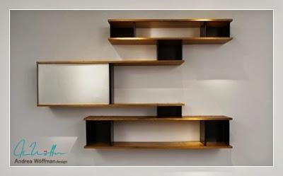bibliotecas de diseño-madera y laca