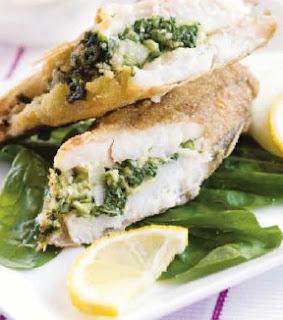 Receta Filete de Pescado con Acelga