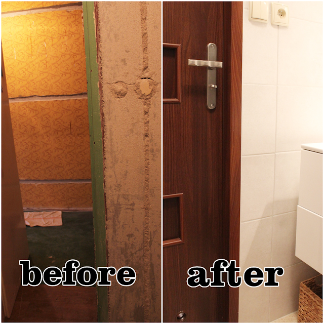 metamorfoza łazienki, blog DIY inspiracje łazienka w kawalerce, jak tanio wyremontować łazienkę,