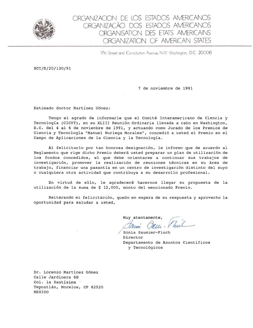 CURRICULUM VITAE LORENZO MARTINEZ GOMEZ: 2013