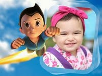 Coloque sua foto em moldura do Astro Boy