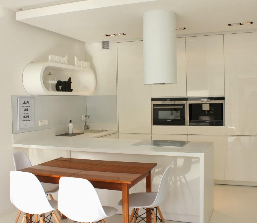 Kuchnia Ady jest połączona z salonem tworzy i podłużne